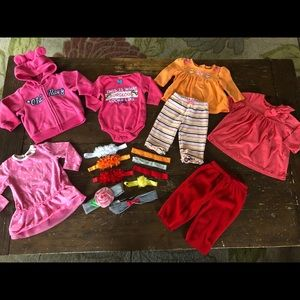 Other - Baby Girl Winter Clothes & Headbands